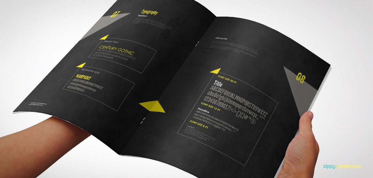 Typography Guidelines - Creative Brand Identity Manual Template - it manual template