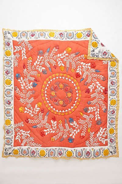Zocalo Embroidered Quilt From Anthropologie Embroidered Quilts Embroidered Bedding Quilts