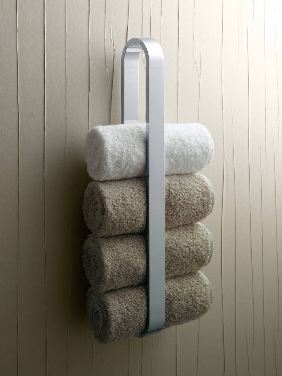 small bathroom towel rack solution