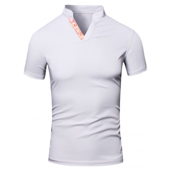 16.38$  Watch now - http://diz28.justgood.pw/go.php?t=182982203 - Fashion Turn-Down Collar Letter Print Short Sleeve Men's Polo T-Shirt
