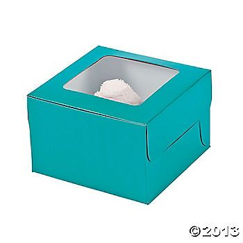 Turquoise Cupcake Boxes