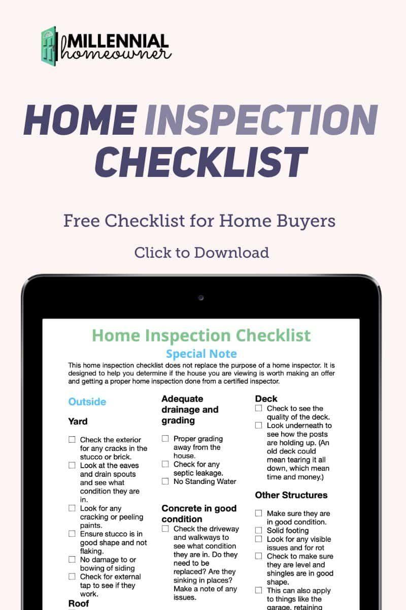 Home Inspection Checklist Are Pdf Printable Inspection Checklist Home Inspection Homeowner Checklist