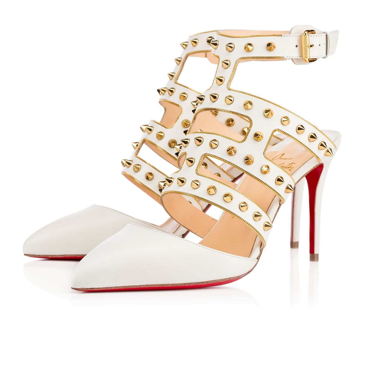 f2025d0af49a CHRISTIAN LOUBOUTIN Tchicaboum 85Mm Neige Leather.  christianlouboutin   shoes