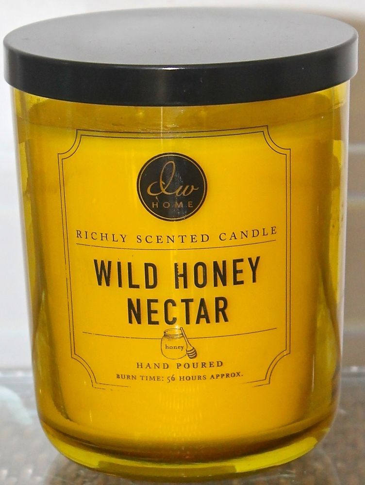 Dw Home Inc Candle Wild Honey Nector Yellow Glass 2 Wicks 15 48