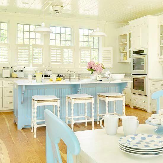 Cottage Kitchen With Simple Granite Counters, Ballard Design Dorchester  Counteru2026