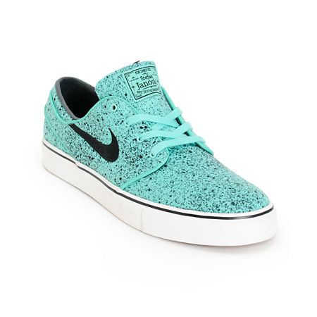 5c8faafe67 Nike SB Zoom Stefan Janoski PR Crystal Mint   Black Speckle Skate Shoes