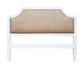 Testata letto in legno e yuta Rebecca 180x120x6 cm (con