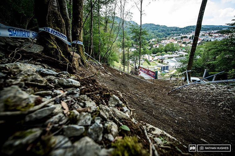 "7,713 Likes, 4 Comments - Pinkbike (@pinkbike) on Instagram: ""Before you can race, you must walk. The Lourdes track preview is now on the site. Amen. 🙏🏽 #mtb…"""
