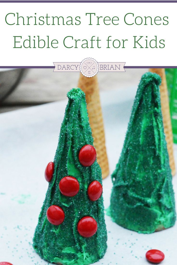 Edible Crafts For Kids To Make Part - 40: Edible Christmas Craft For Kids: Christmas Tree Cones
