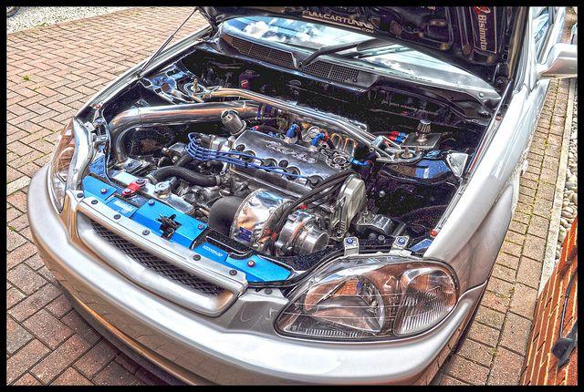 HDR engine bay Civic Turbo D16 tucked | Honda Living | Honda, Honda cars, Honda motors