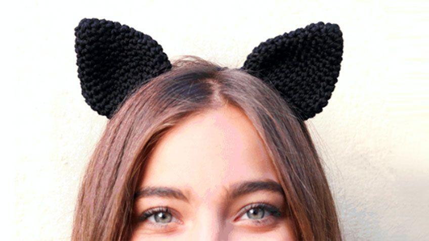 Cómo tejer diadema con orejas de gato de crochet | Pinterest ...