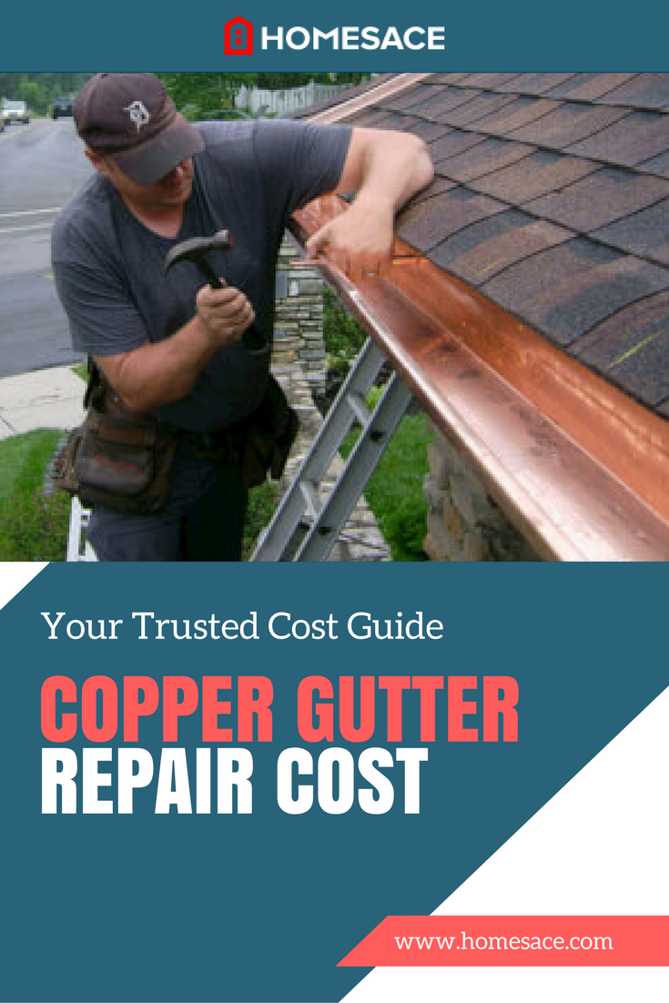 If You Own Copper Gutters That Need Some Repairs We Discuss How Much Should You Pay For A General Contracto Gutter Repair Copper Gutters How To Install Gutters