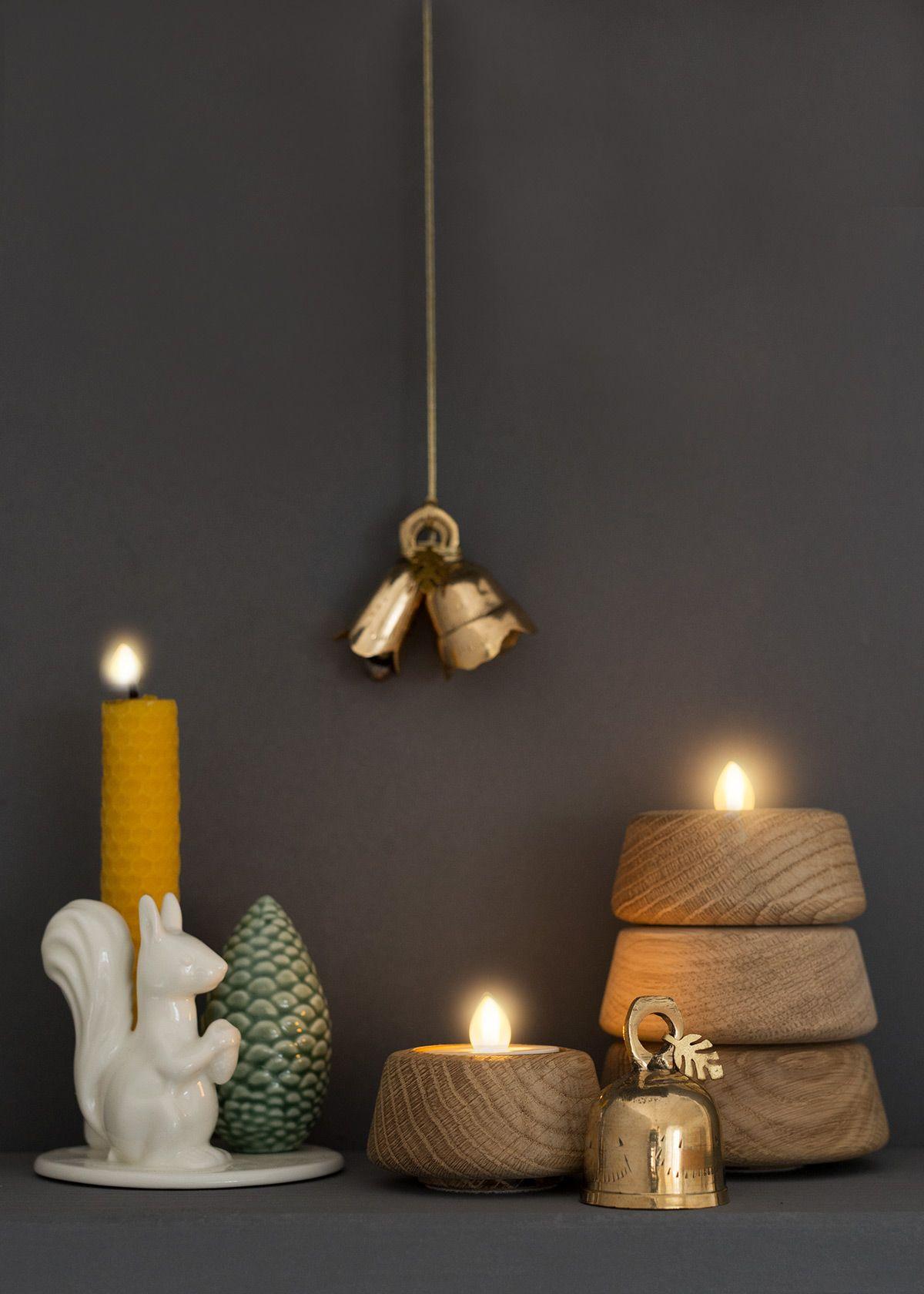 Dottir Winterstories Squirrel Applicata Spruce Wunderschoen Gemacht Kerzen Kerzenhalter Weihnachtsdeko Ideen Diy