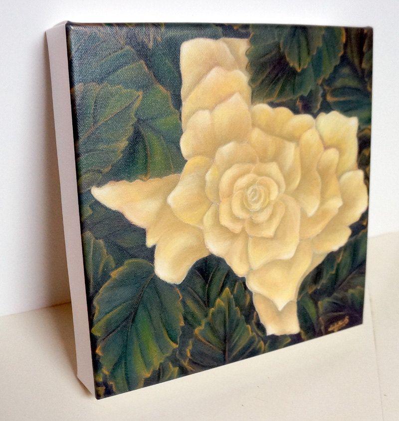 Yellow Rose of Texas--Art Wall Decor--Yellow,Green,Orange--Giclee ...