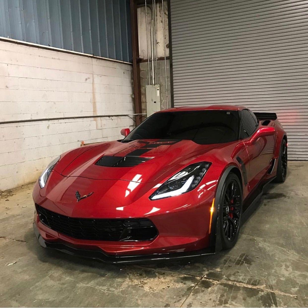 Chevrolet Corvette C7 Z06 Painted In Long Beach Red