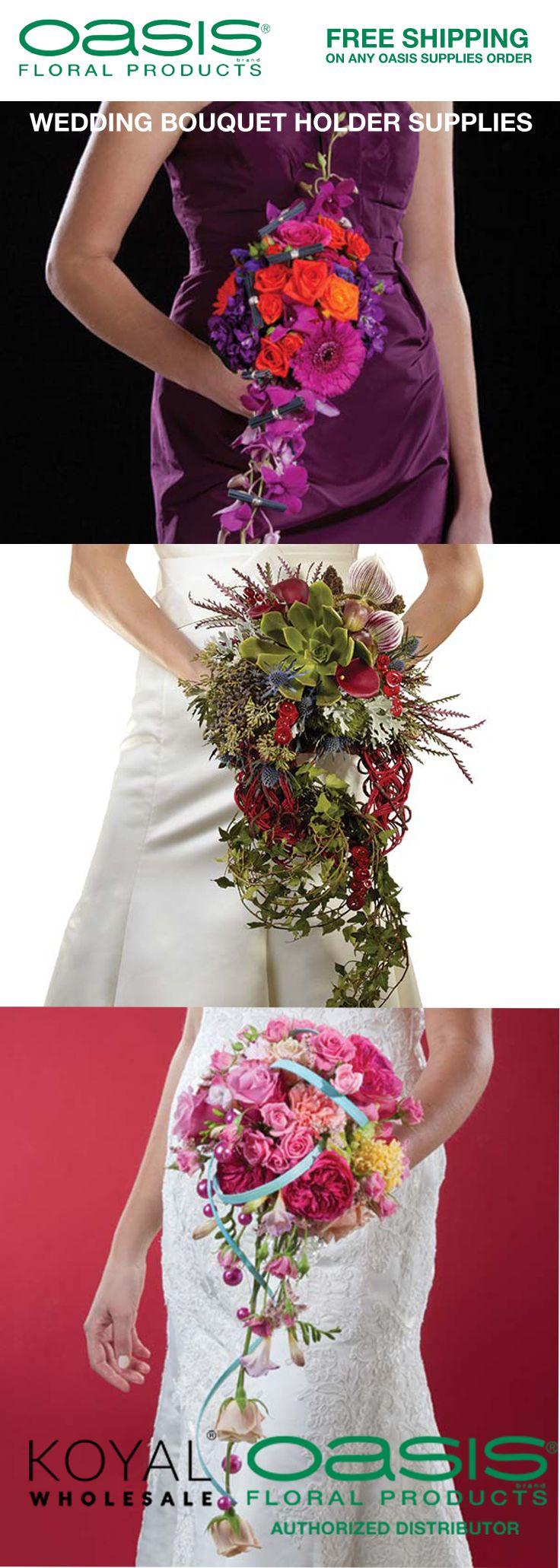 Cascading wedding bouquet supplies + wedding centerpiece
