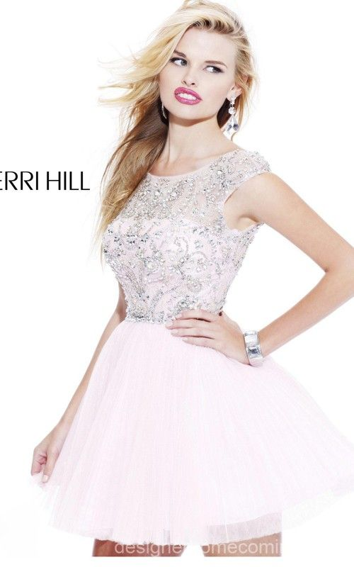 dfdc9364f0 Dramatic White Homecoming Dress Short Sherri Hill 2814