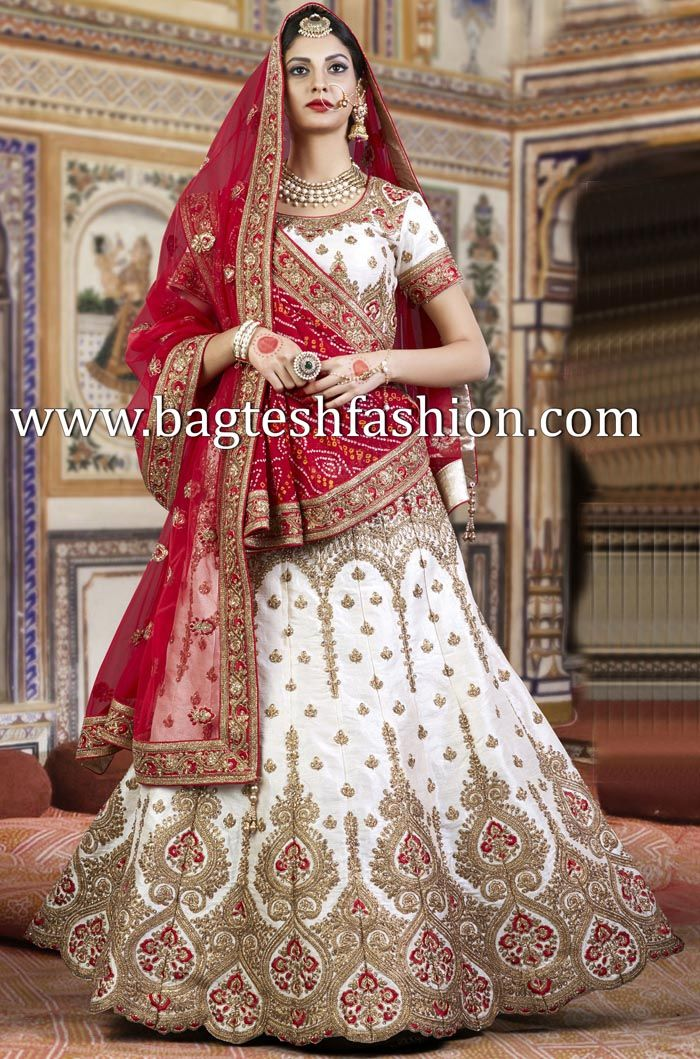 5e86f4ee8f7ced Attractive Off White Silk Lehenga Choli | Fabulous Things For Sale ...