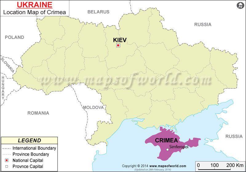Where is Crimea   RUSSIA & The UKRAINE \