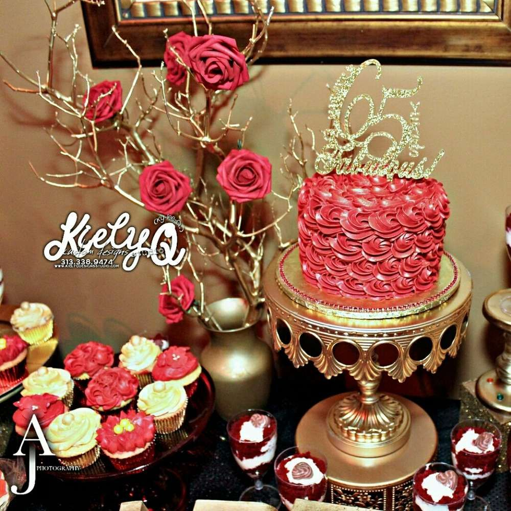 Red Gold Dinner Party Party Ideas Dessert Tables On Catch My