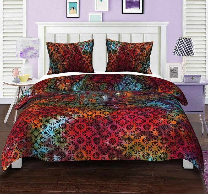 Indian Duvet Doona Mandala Hippie Bohemian New Quilt 2 pillow Cover Blanket,16