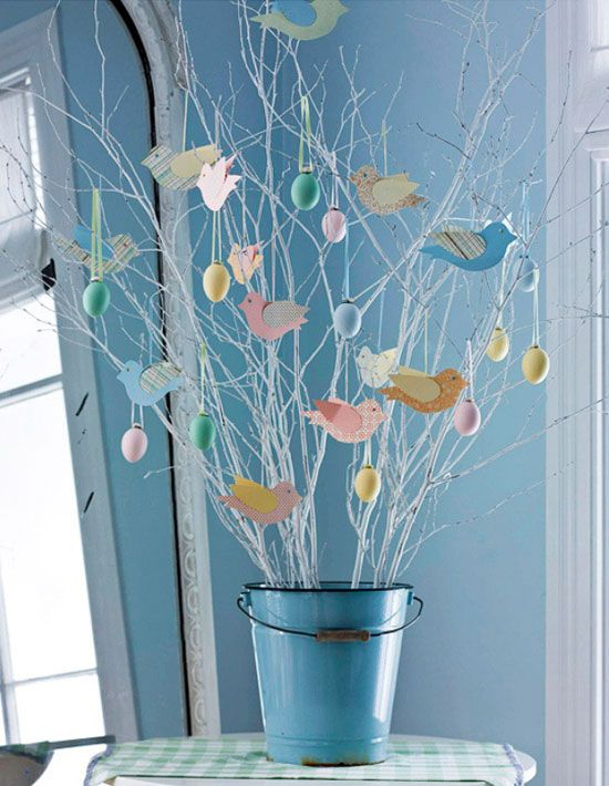 Tabletop Easter Tree | Click Pic for 22 DIY Easter Decor Ideas for the Home | Easy Easter Decorations for Kids to Make