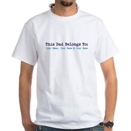 1d8abbf532c627 CafePress Personalized This Dad Belongs To T-Shirt