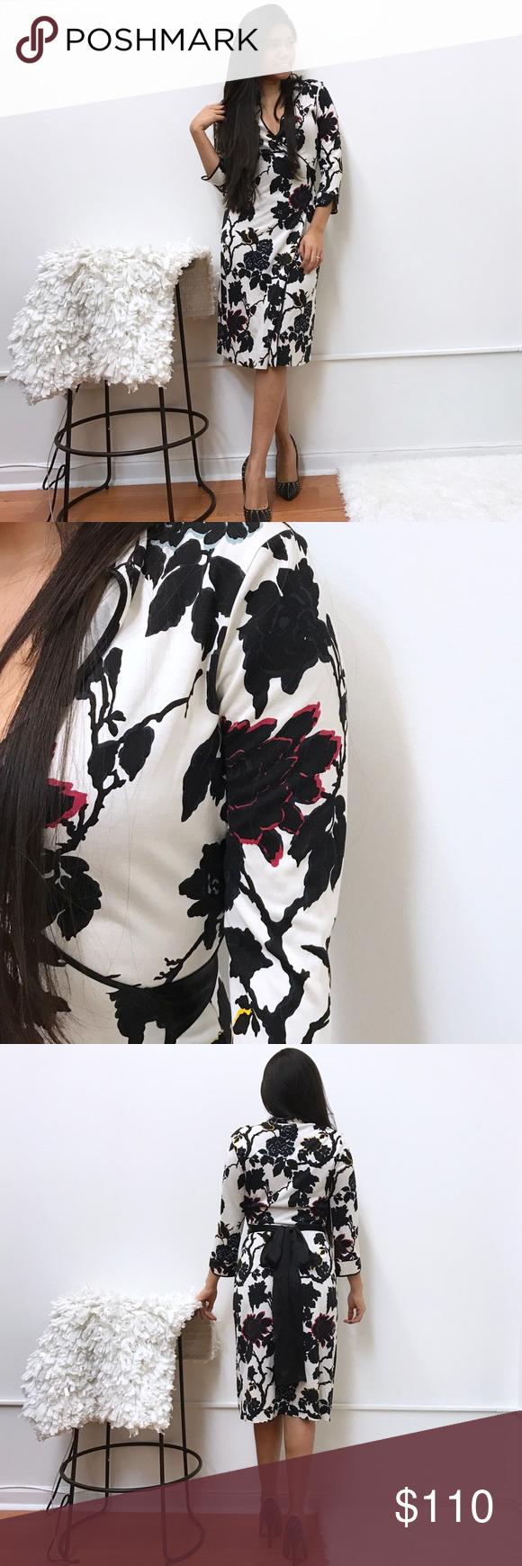 "DVF Floral wrap dress sz 4 DVF dress. Sz 4. Great condition. Length 40"" Diane von Furstenberg Dresses"