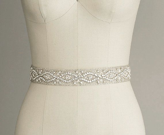 Wedding Dress Belts.Catherine Crystal Bridal Belt Sash Rhinestone Wedding Gown Sash