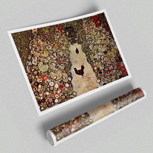 Photo of East Urban Home Poster Garden Path with Chickens by Gustav Klimt   Wayfair.de