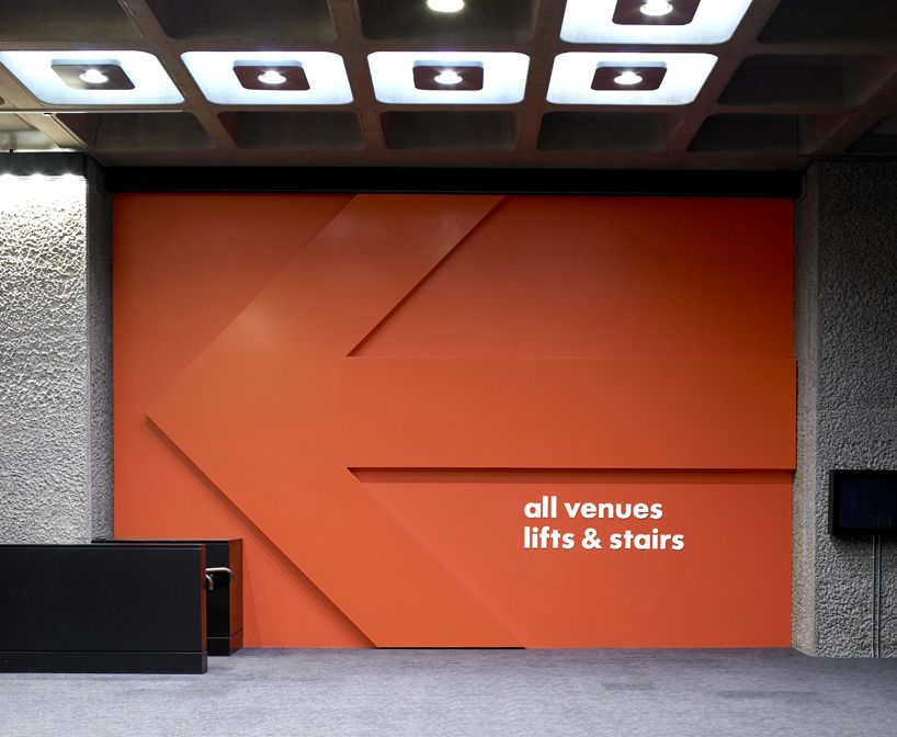 barbican centre wayfinding and signage by cartlidge levene in collaboration with studio myerscough