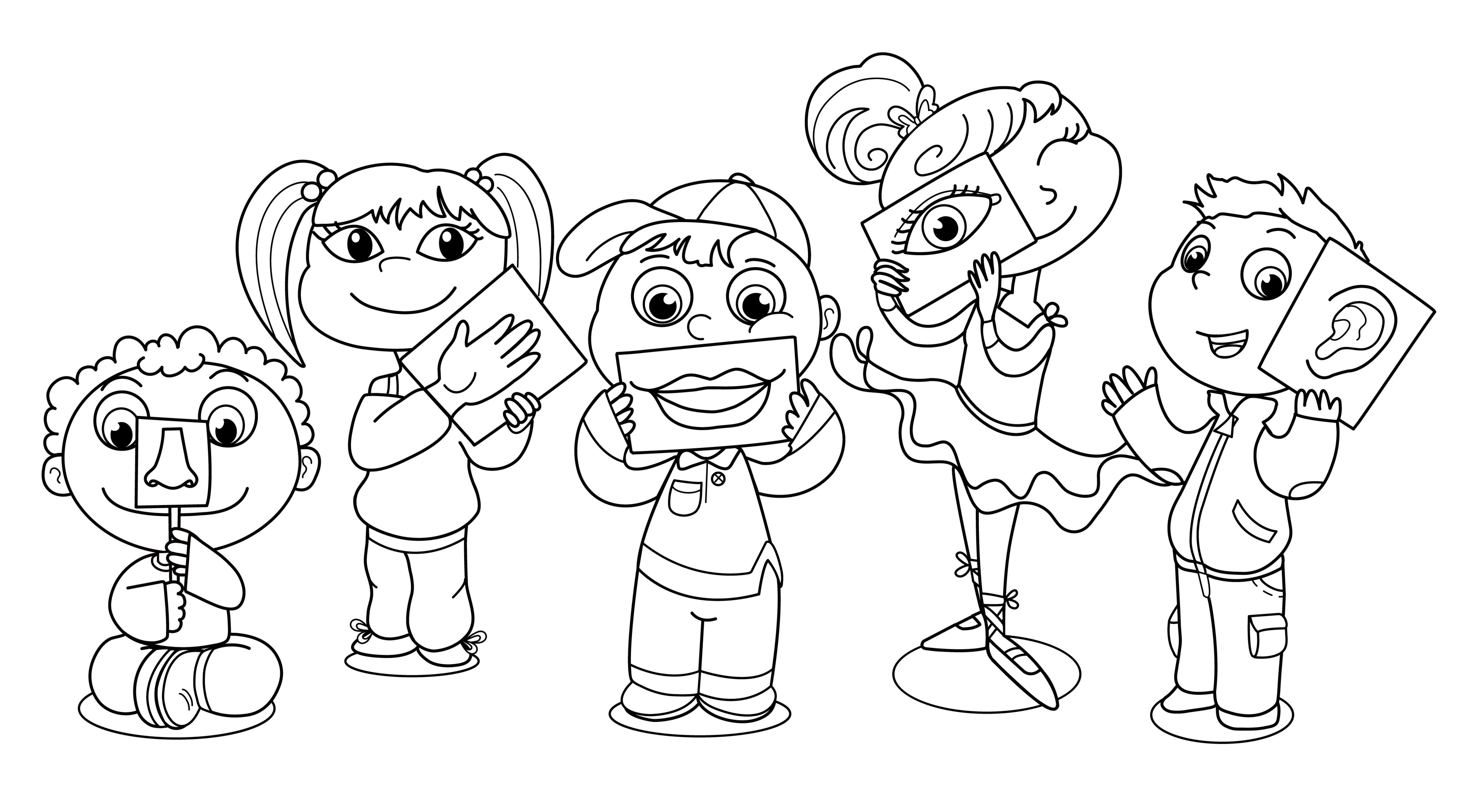 Fives Senses Coloring Page