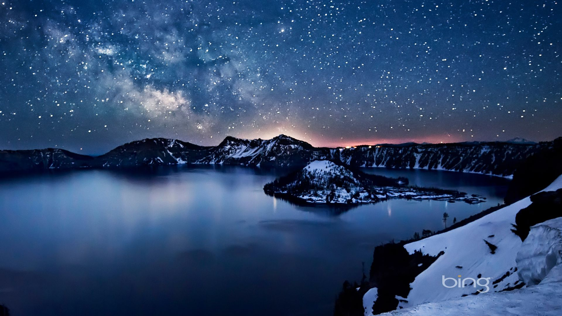Starry Sky Wallpaper Nature photography, Crater lake