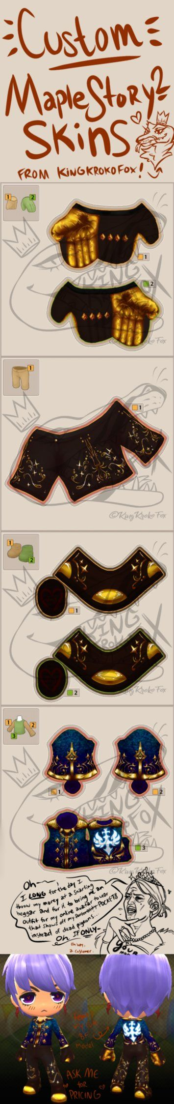 Maple Story 2 Custom Skins by KingKrokoFox | Maple story in