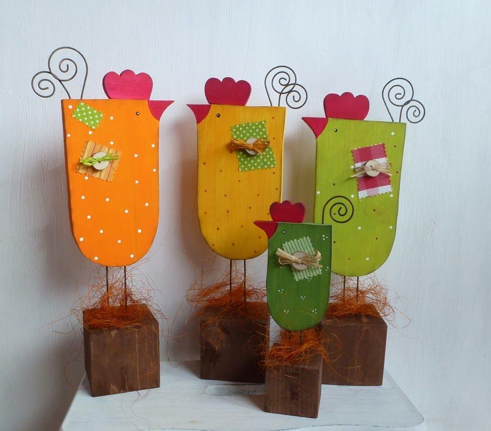 Huhn Holz Auf Klotz Werkideen Pinterest Chicken Crafts Easter