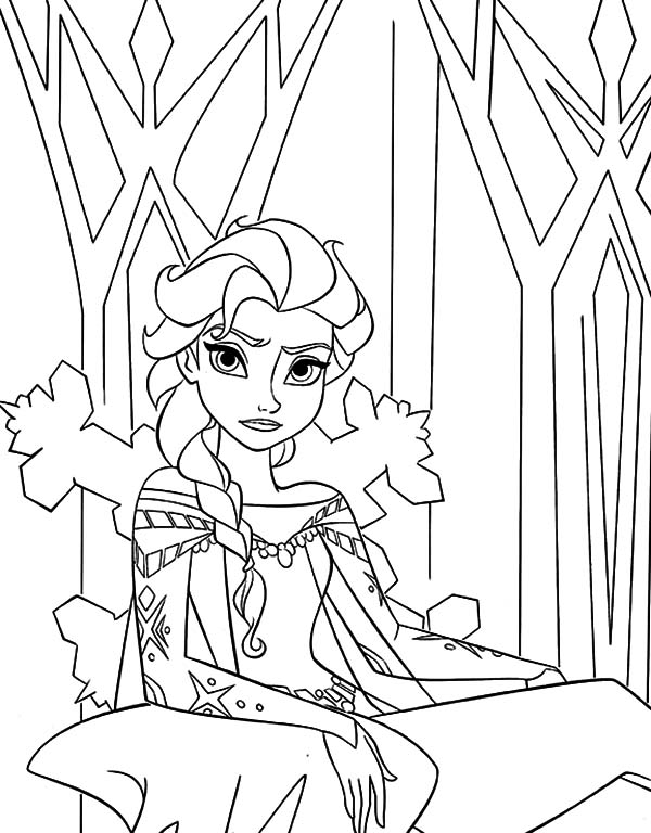 Walt Disney Queen Elsa Sitting On Her Throne Coloring Pages Coloring Sky Elsa Coloring Pages Princess Coloring Pages Disney Coloring Pages