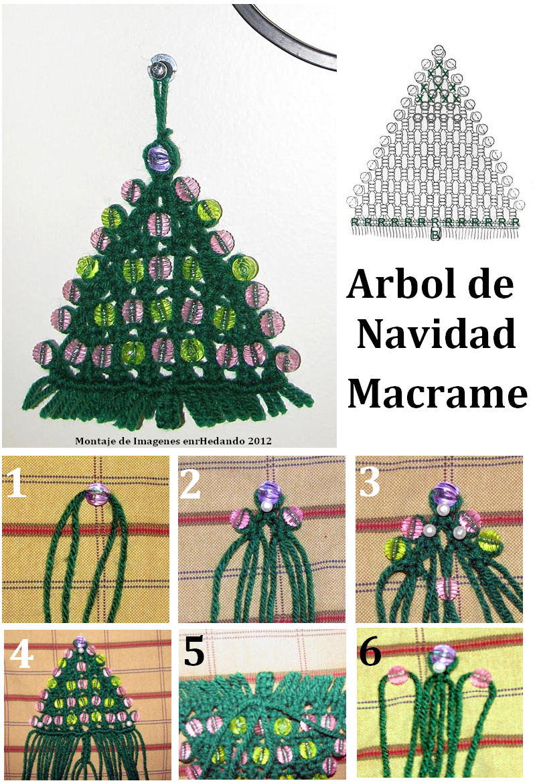 como hacer un arbol de navidad de macrame