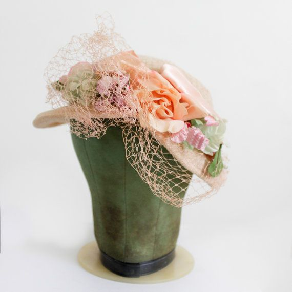 Garden Party Hat  Romantic Pretty Hat Knit by SalvatoCollection, $35.00