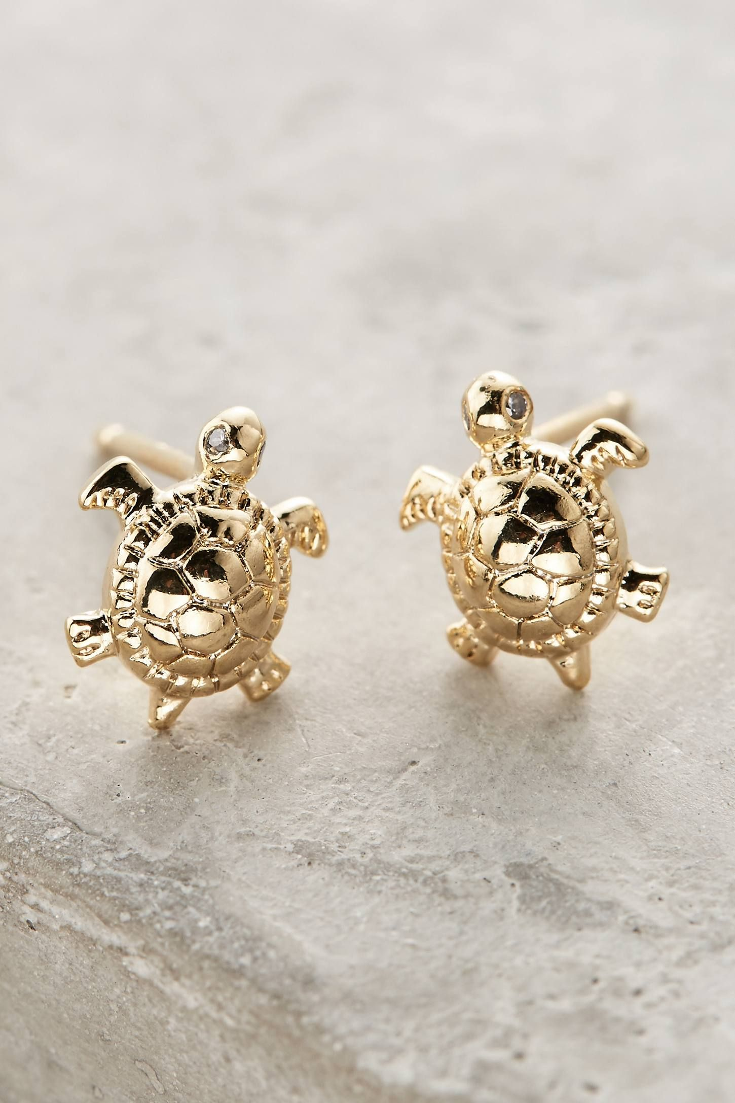 Tiny Turtle Stud Earrings