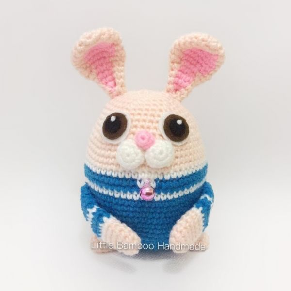 Rabbit The 12 Zodiac Egg amigurumi pattern by Little Bamboo Handmade ...
