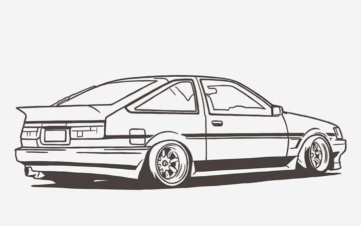 Pin By Sandor Katonka On Ae86 Art Cars Race Car Coloring Pages Car Artwork
