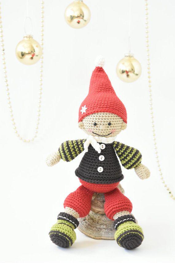 PATTERN - Jester the Christmas gnome - crochet pattern, amigurumi ...