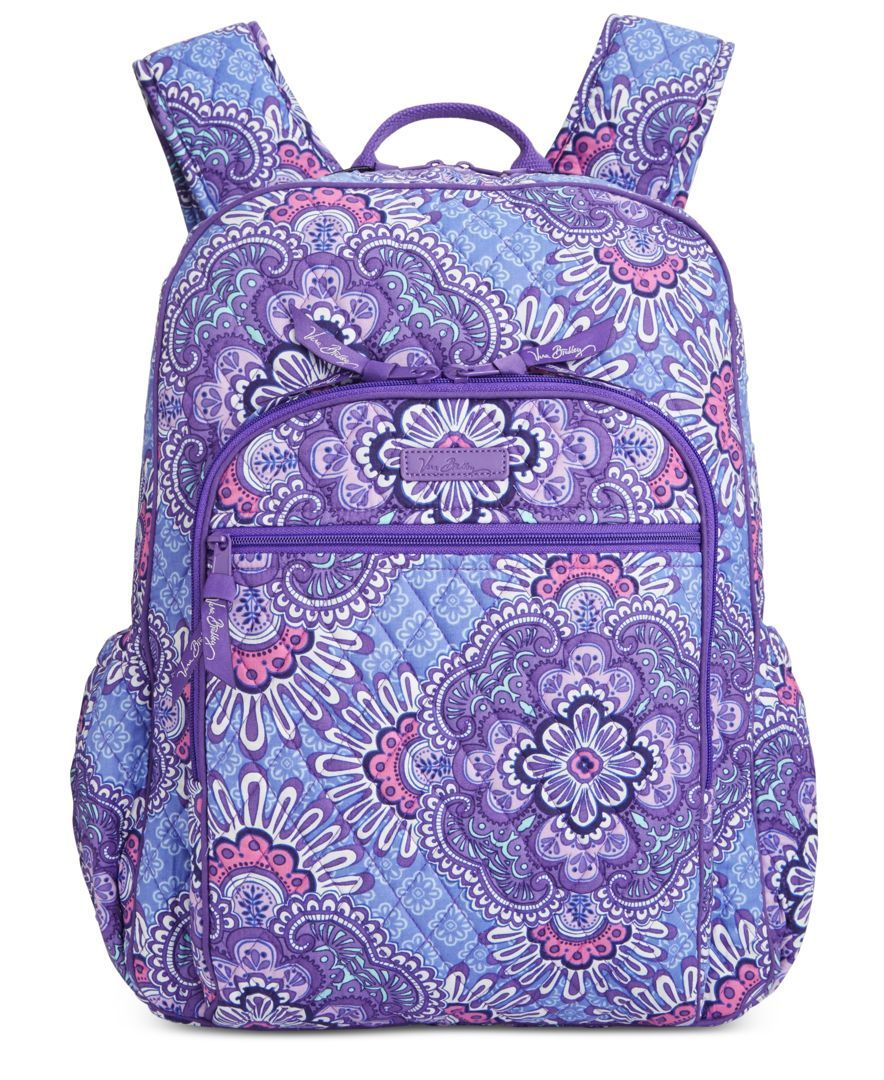 "Get set for the best school year ever with Vera Bradley's punchy-hued backpack crafted in lightweight signature quilted cotton. | Cotton | Imported | 12""W x 16""H x 7-1/2""D 