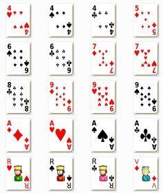 carte à jouer à imprimer Les images des 52 cartes à jouer. | Carte à jouer, Jeux ce1, Cartes