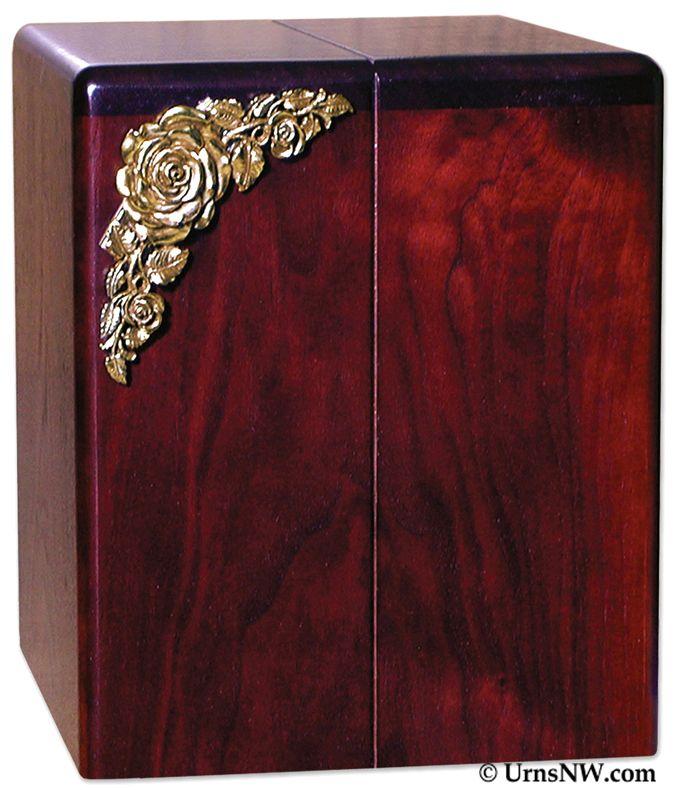 Roses Wood Companion Urn With Rosewood Finish Urns Northwest