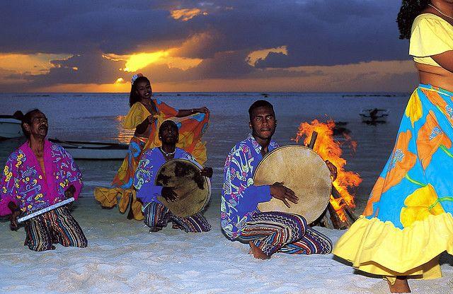 Sega Dance Activity on the Beach at Sunset