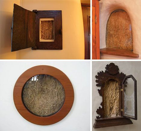So-called 'truth windows' are part of a weird and wonderful tradition of cutting false windows, ironically enough, into the inside walls of homes (generally to reveal straw bale and timber construction).