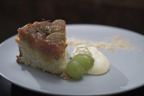Matt & Luke's Upside Down Grape & Rosemary Cake | My Kitchen Rules #kitchenrules