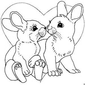 Hasen Mit Einem Herz Ausmalbild Malvorlage Gemischt Bunnies