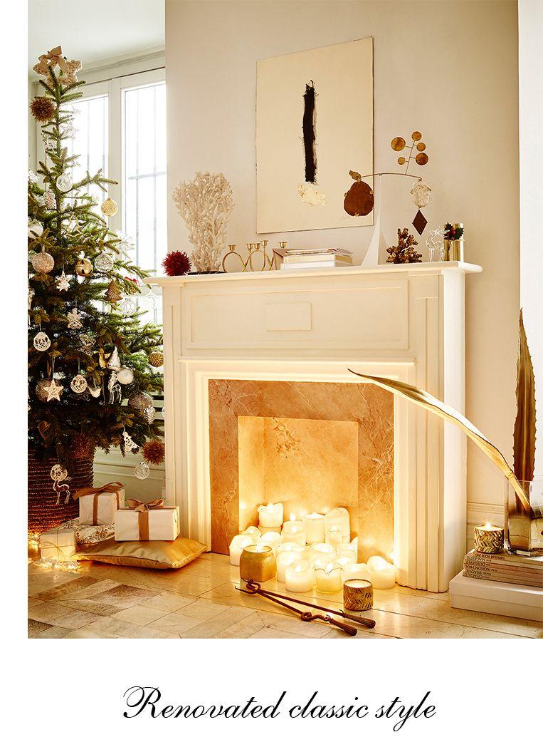 La navidad va llegando poco a poco a Zara home - White & Gold - http ...